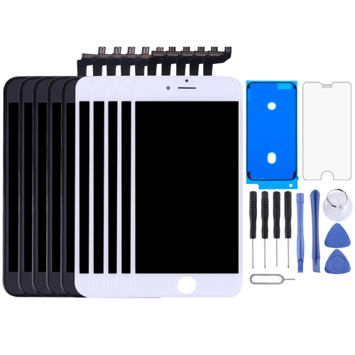 5 PCS Black + 5 PCS White LCD Screen and Digitizer Full Assembly with Frame for iPhone 6s