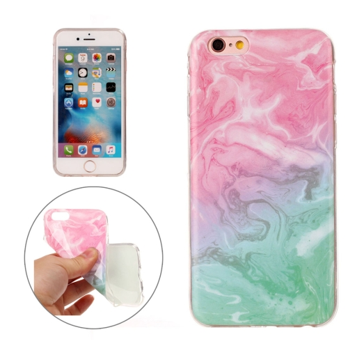 Buy For iPhone 6s Pink Green Marble Pattern Soft TPU Protective Case for $1.17 in SUNSKY store