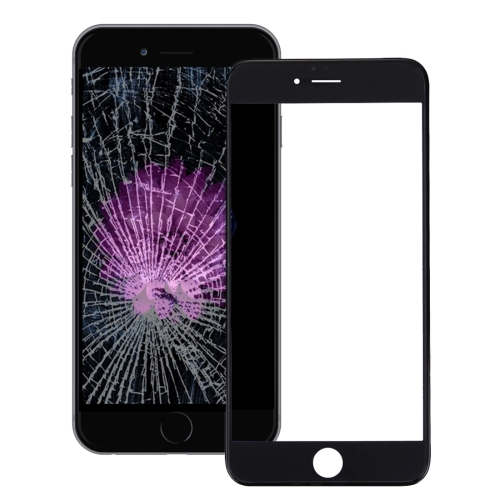 Front Screen Outer Glass Lens with Front LCD Screen Bezel Frame & OCA Optically Clear Adhesive for iPhone 6s(Black)