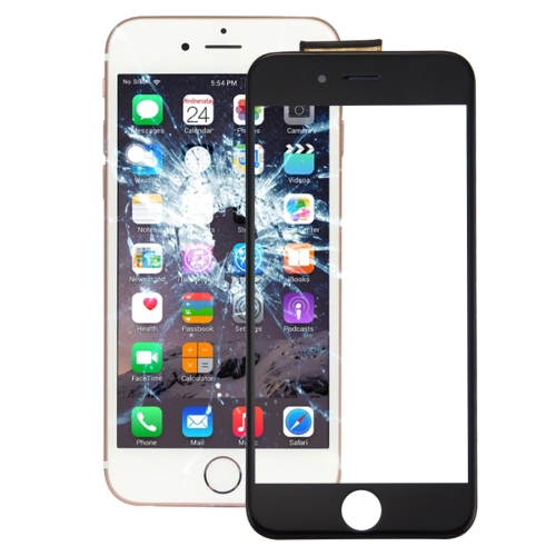 Touch Panel with Front LCD Screen Bezel Frame & OCA Optically Clear Adhesive for iPhone 6s(Black)