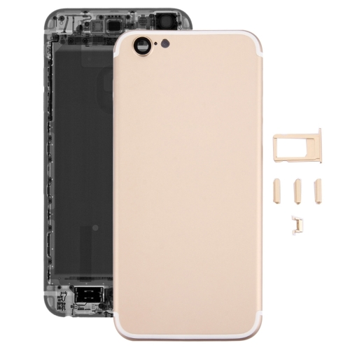 Buy iPartsBuy 5 in 1 Full Assembly Metal Housing Cover with Appearance Imitation of iPhone 7 for iPhone 6s, Including Back Cover (Big Camera Hole) & Card Tray & Volume Control Key & Power Button & Mute Switch Vibrator Key, No Headphone Jack, Gold for $19.83 in SUNSKY store