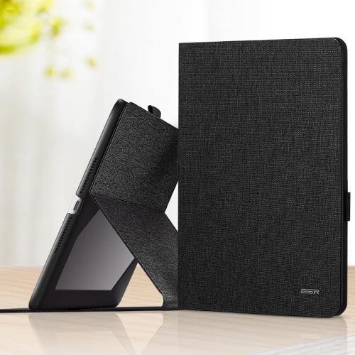 ESR Simplicity Series Horizontal Flip Leather Case for iPad 9.7 (2018) / (2017), with Holder & Pen Slot & Sleep / Wake-up Function(Black)
