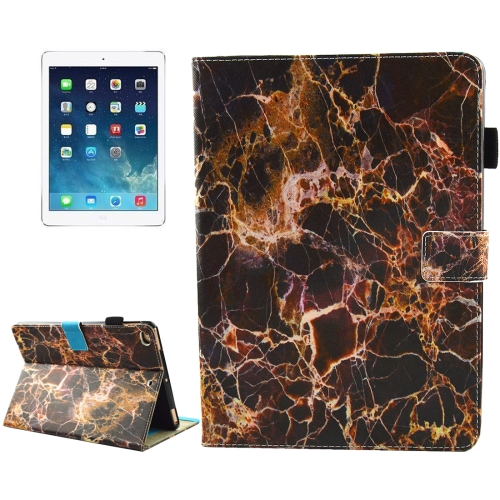 Buy For iPad 9.7 inch 2017 / iPad Air / iPad Air 2 Universal Black and Gold Marble Pattern Horizontal Flip Leather Protective Case with Holder & Card Slots & Sleep for $4.94 in SUNSKY store