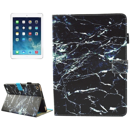 Buy For iPad 9.7 inch 2017 / iPad Air / iPad Air 2 Universal Black Marble Pattern Horizontal Flip Leather Protective Case with Holder & Card Slots & Sleep for $4.67 in SUNSKY store