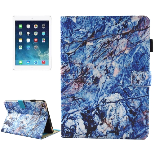 Buy For iPad 9.7 inch 2017 / iPad Air / iPad Air 2 Universal Blue Marble Pattern Horizontal Flip Leather Protective Case with Holder & Card Slots & Sleep for $4.94 in SUNSKY store