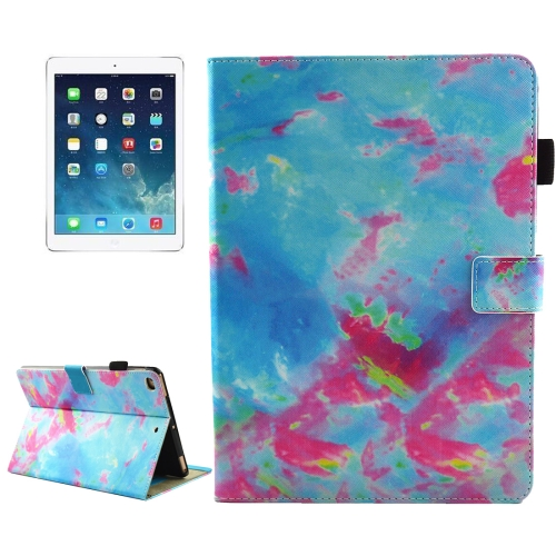 Buy For iPad 9.7 inch 2017 / iPad Air / iPad Air 2 Universal Blue and Pink Marble Pattern Horizontal Flip Leather Protective Case with Holder & Card Slots & Sleep for $4.81 in SUNSKY store