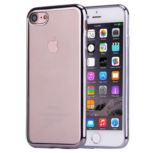 Buy For iPhone 8 & 7 Electroplating TPU Protective Back Cover Case, Grey for $1.02 in SUNSKY store