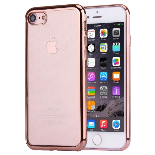 For iPhone 8 & 7 Electroplating TPU Protective Back Cover Case (Rose Gold)