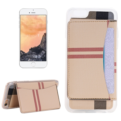 Buy For iPhone 8 & 7 Flexible Card Slots Cross Pattern Scotland Style Leather Case with Holder & Card Slots & Wallet, Beige for $2.55 in SUNSKY store