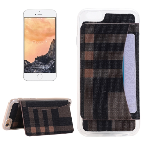 Buy For iPhone 8 & 7 Flexible Card Slots Cross Pattern Scotland Style Leather Case with Holder & Card Slots & Wallet, Brown for $2.55 in SUNSKY store