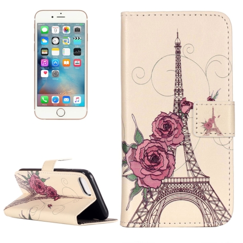 Buy For iPhone 8 & 7 Embossment Rose Tower Pattern Horizontal Flip Leather Case with Holder & Card Slots & Wallet for $2.16 in SUNSKY store