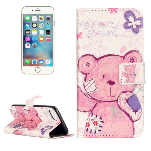 Buy For iPhone 8 & 7 Embossment Pudding Bear Pattern Horizontal Flip Leather Case with Holder & Card Slots & Wallet for $2.16 in SUNSKY store