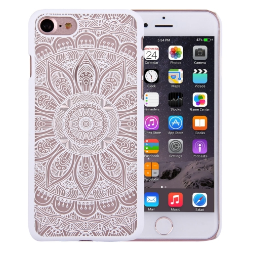 Buy For iPhone 8 & 7 Embossed Lotus Pattern Plastic Protective Back Cover Case, White for $1.27 in SUNSKY store