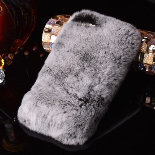 Buy For iPhone 8 & 7 Genuine Rabbit Hair Diamond Encrusted Thickened PC Protective Case, Grey for $3.75 in SUNSKY store