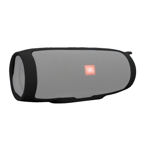 Shockproof Waterproof Soft Silicone Cover Protective Sleeve Bag for JBL Charge3 Bluetooth Speaker(Black)