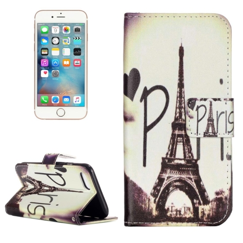 Buy For iPhone 8 & 7 Eiffel Tower Pattern Horizontal Flip Leather Case with Holder & Card Slots & Wallet for $2.06 in SUNSKY store