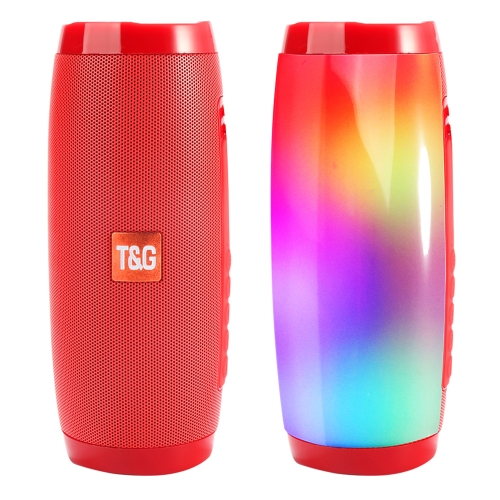 TG157 Bluetooth 4.2 Mini Portable Wireless Bluetooth Speaker with Melody Colorful Lights (Red)
