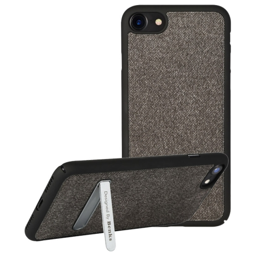 Buy Benks for iPhone 8 & 7 Business Style Magnetic PC Denim Protective Case Back Cover with Holder, Black for $7.07 in SUNSKY store