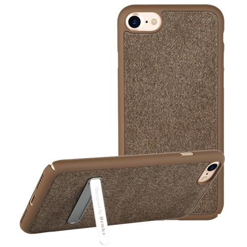 Buy Benks for iPhone 8 & 7 Business Style Magnetic PC Denim Protective Case Back Cover with Holder, Coffee for $7.05 in SUNSKY store