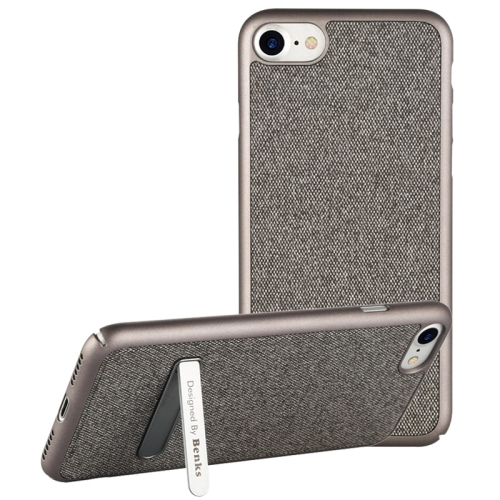 Buy Benks for iPhone 8 & 7 Business Style Magnetic PC Denim Protective Case Back Cover with Holder, Silver for $7.05 in SUNSKY store