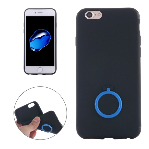 Buy For iPhone 8 & 7 Ultra Thin Soft TPU Protective Back Cover Case with Ring Holder Stand (Dark Blue) for $1.16 in SUNSKY store