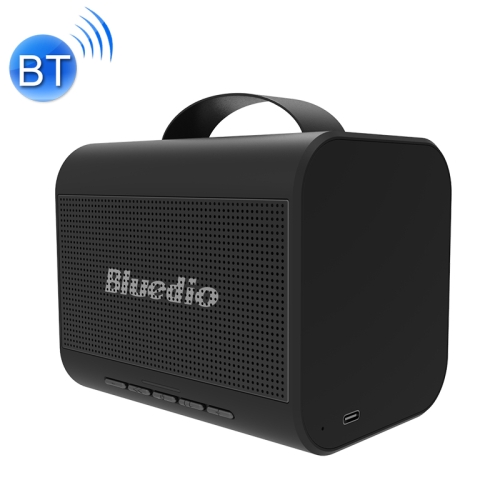 Bluedio T Share 2.0 Bluetooth 5.0 Waterproof HiFi Subwoofer Wireless Bluetooth Portable Speaker(Black)