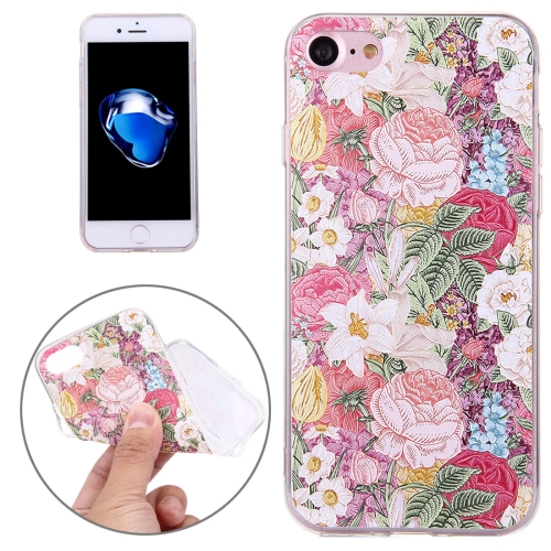 Buy For iPhone 8 & 7 Embossed Flowers Pattern Soft TPU Protective Cover Case for $1.38 in SUNSKY store