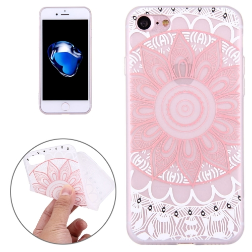 Buy For iPhone 8 & 7 Embossed Lotus Pattern Soft TPU Protective Cover Case for $1.45 in SUNSKY store
