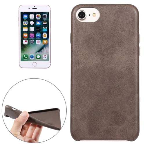 Buy For iPhone 8 & 7 Crazy Horse Texture Leather Surface Soft TPU Protective Back Case, Brown for $1.89 in SUNSKY store