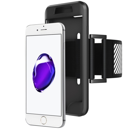 Buy 2 in 1 for iPhone 8 & 7 Dual Control Sport Armband with Detachable Premium Silicone Case, Black for $2.44 in SUNSKY store