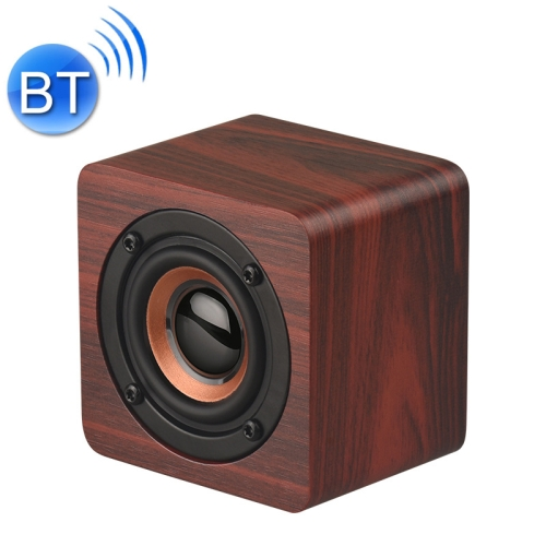 Q1 Wooden Mini Portable Mega Bass Wireless Bluetooth Speaker (Red)