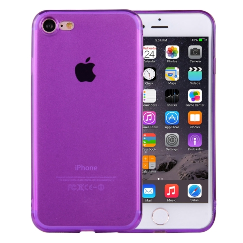 Buy For iPhone 8 & 7 0.5mm Ultra-thin Dark Color Transparent TPU Protective Case, Purple for $1.01 in SUNSKY store