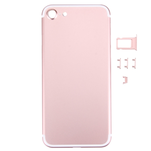 Buy iPartsBuy 5 in 1 for iPhone 7 (Back Cover + Card Tray + Volume Control Key + Power Button + Mute Switch Vibrator Key) Full Assembly Housing Cover (Rose Gold) for $18.67 in SUNSKY store