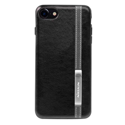Buy NILLKIN Phenom Case for iPhone 8 & 7 Business Style Leather Surface PC Protective Case Back Cover with Soft TPU Frame & Magnetic Metal Holder, Black for $5.61 in SUNSKY store