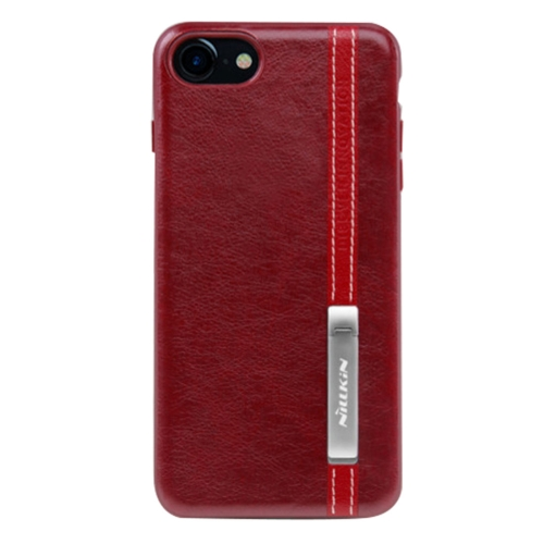 Buy NILLKIN Phenom Case for iPhone 8 & 7 Business Style Leather Surface PC Protective Case Back Cover with Soft TPU Frame & Magnetic Metal Holder, Red for $5.66 in SUNSKY store