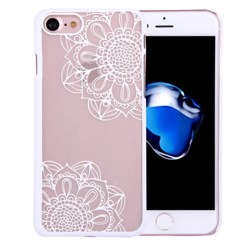 Buy For iPhone 8 & 7 Embossment Hollowed-out Flower Pattern Transparent Protective Back Cover Case for $1.27 in SUNSKY store