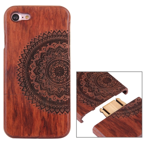 Buy For iPhone 7 Artistic Mandala Pattern Separable Rosewood Protective Back Case Shell for $8.04 in SUNSKY store