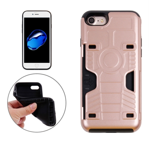 Buy For iPhone 8 & 7 Boxing Champion Gold Belt Shock-Resistant TPU + PC Combination Case with Card Slot (Rose Gold) for $2.18 in SUNSKY store