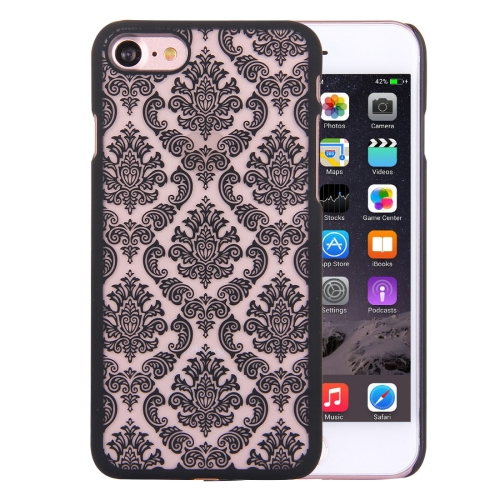 Buy For iPhone 8 & 7 Embossed Flowers Pattern Plastic Protective Case, Black for $1.27 in SUNSKY store