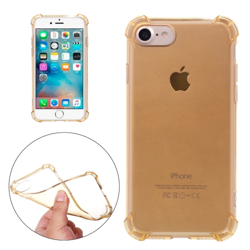 For iPhone 8 & 7 Shock-resistant Cushion TPU Protective Case, Gold