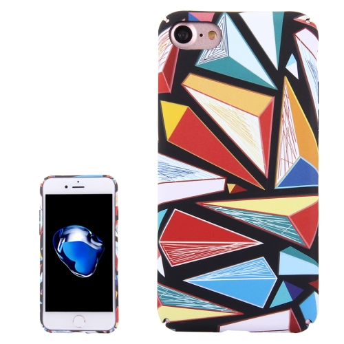 For iPhone 8 & 7 Water Decals Color Diamond Pattern PC Protective Case