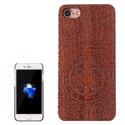 Buy For iPhone 8 & 7 Constandine Pattern Carving Rosewood Wooden Protective Back Cover Case for $5.76 in SUNSKY store