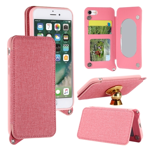 Buy For iPhone 8 & 7 Protective Back Case Cover with Card Slot & Photo Frame & Holder & Mirror, Pink for $3.69 in SUNSKY store