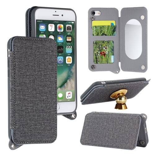 Buy For iPhone 8 & 7 Protective Back Case Cover with Card Slot & Photo Frame & Holder & Mirror, Grey for $3.69 in SUNSKY store