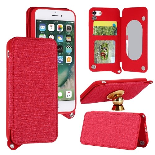 Buy For iPhone 8 & 7 Protective Back Case Cover with Card Slot & Photo Frame & Holder & Mirror, Red for $3.69 in SUNSKY store