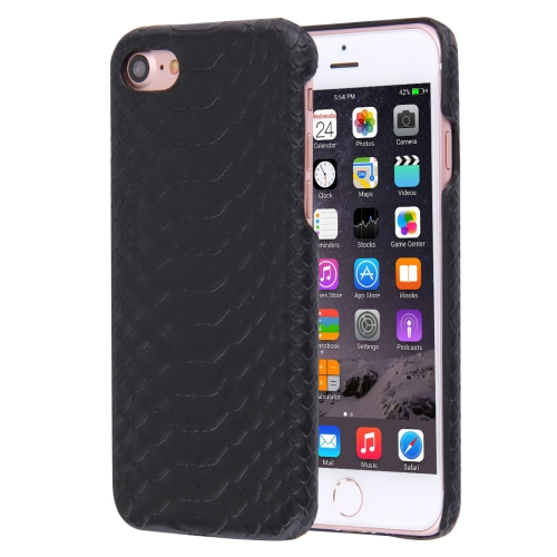 Buy For iPhone 8 & 7 Snakeskin Texture Paste Skin PC Protective Case, Black for $1.41 in SUNSKY store