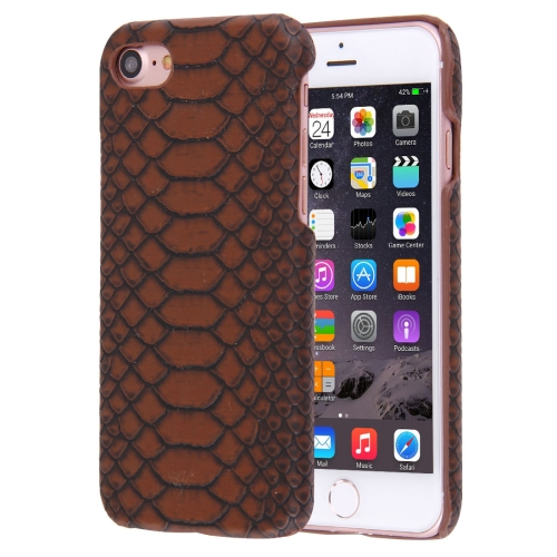 Buy For iPhone 8 & 7 Snakeskin Texture Paste Skin PC Protective Case, Coffee for $1.41 in SUNSKY store