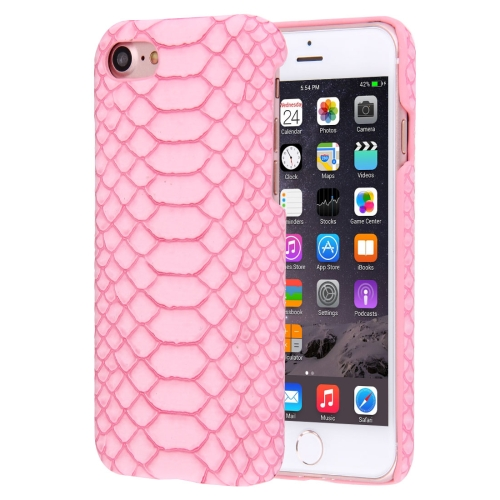Buy For iPhone 8 & 7 Snakeskin Texture Paste Skin PC Protective Case, Pink for $1.41 in SUNSKY store