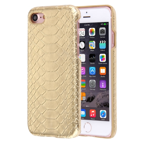 Buy For iPhone 8 & 7 Snakeskin Texture Paste Skin PC Protective Case, Gold for $1.40 in SUNSKY store