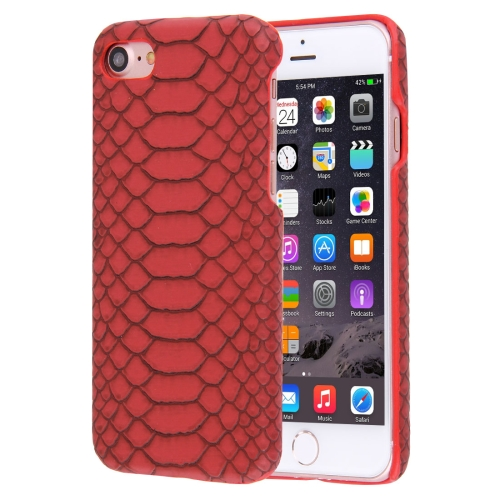 Buy For iPhone 8 & 7 Snakeskin Texture Paste Skin PC Protective Case, Red for $1.48 in SUNSKY store